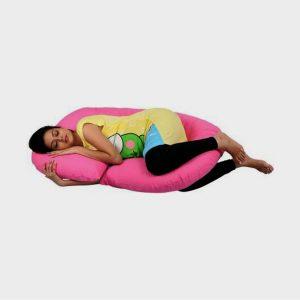 AVI Plain Pregnancy Pillow Pack of 1 (Pink)