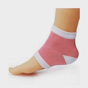 AlexVyan Pink Silicone Gel Heel Socks