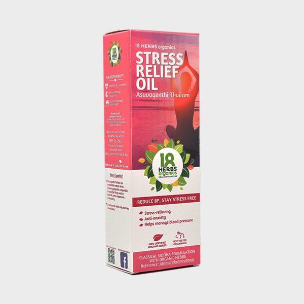 18 Herbs Organics Asuvagenthi Thailam 100ml (Stress Relief Oil)