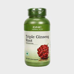 GNC Triple Ginseng Root Vegetarian 90 Capsules