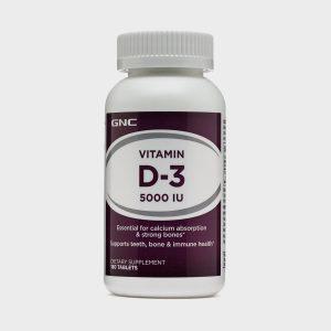 GNC Vitamin D-3 5000 IU (180 Tablets)