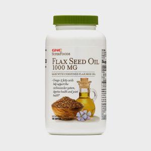 GNC Flax Seed Oil 1000 mg(90 Softgels)