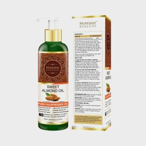 Morpheme Remedies Pure Sweet Almond Coldpressed Oil For Hair And Skin 120 ml
