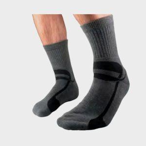 Silipos GeLuscious Moisturizing Gel Socks for Men-Charcoal Color