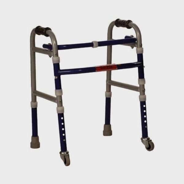 Vissco Invalid Foldable/Adjustable Walker Castors