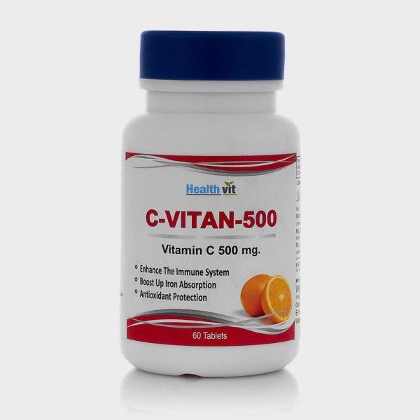 Healthvit C-Vitan-500 Vitamin C 500MG Orange Flavor