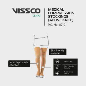 Vissco Medical Compression Stockings Above Knee