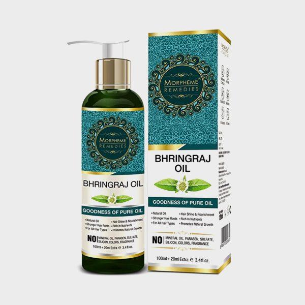 Morpheme Remedies Pure Bhringraj Oil (No Mineral Oil & No Paraben) 120 ml