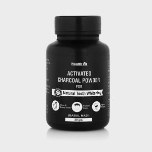 HealthVit Activated Charcoal Powder for Natural Teeth Whitening