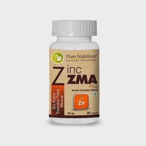 Pure Nutrition Zinc ZMA Plus (Bio Active Essential Trace Minerals) 500mg (30 Capsules)