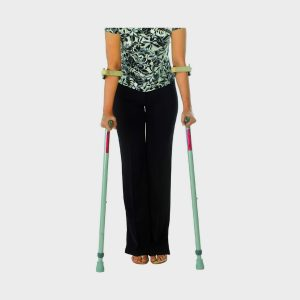 Vissco Invalid Elbow Crutches With Insert Pulley (Old Type)