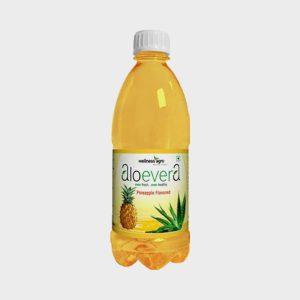 Wellness Agro Aloe Vera Juice Pineapple Flavored (Sugarless) 500ml