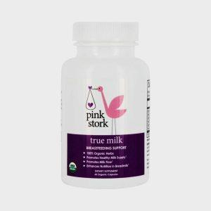 Pink Stork True Milk Breastfeeding Support - 60 Vegetarian Capsules