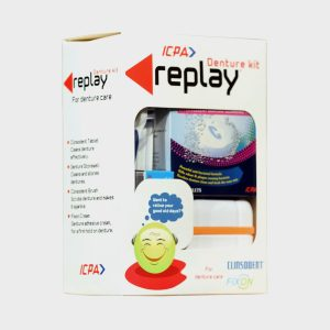 ICPA Replay Denture Cleaning Kit With Storage Container And Adhesive