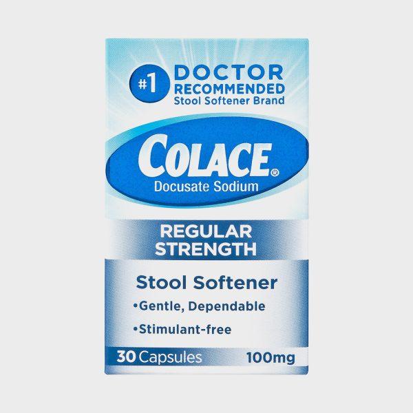 Colace Docusate Sodium, Stool Softener Regular Strength 30 Capsules 100mg