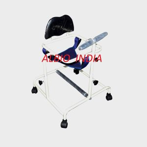Albio CP Walker Child Large - Height Adjustable Cerebral Palsy Walker with removable Leg Bar to prevent Cross Legs.