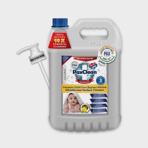 PaxClean - All in One - Child Care Triple Active Disinfectant Sanitizer Cleaner Concentrate Lemon & Neem – 5 Ltrs