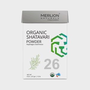 Merlion Naturals Organic Shatavari Root Powder, Asparagus racemosus - 227gm