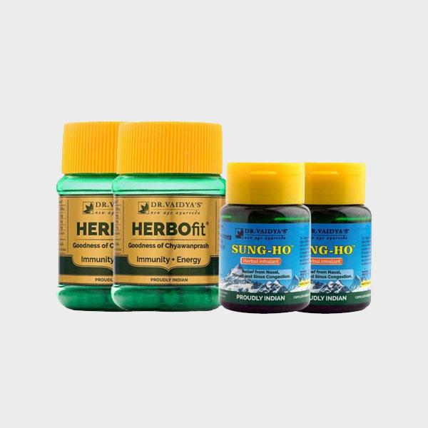 Immunity Essential Pack : Ayurvedic Chyawanprash Capsules & Inhalant